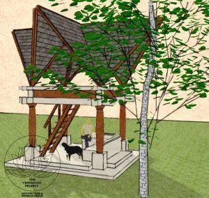Tree House at Chopda Farms, by the Vrindavan Project, Ranjeet Mukherjee