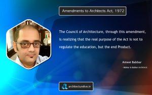 Ameet Babbar on Amendments to Architects Act