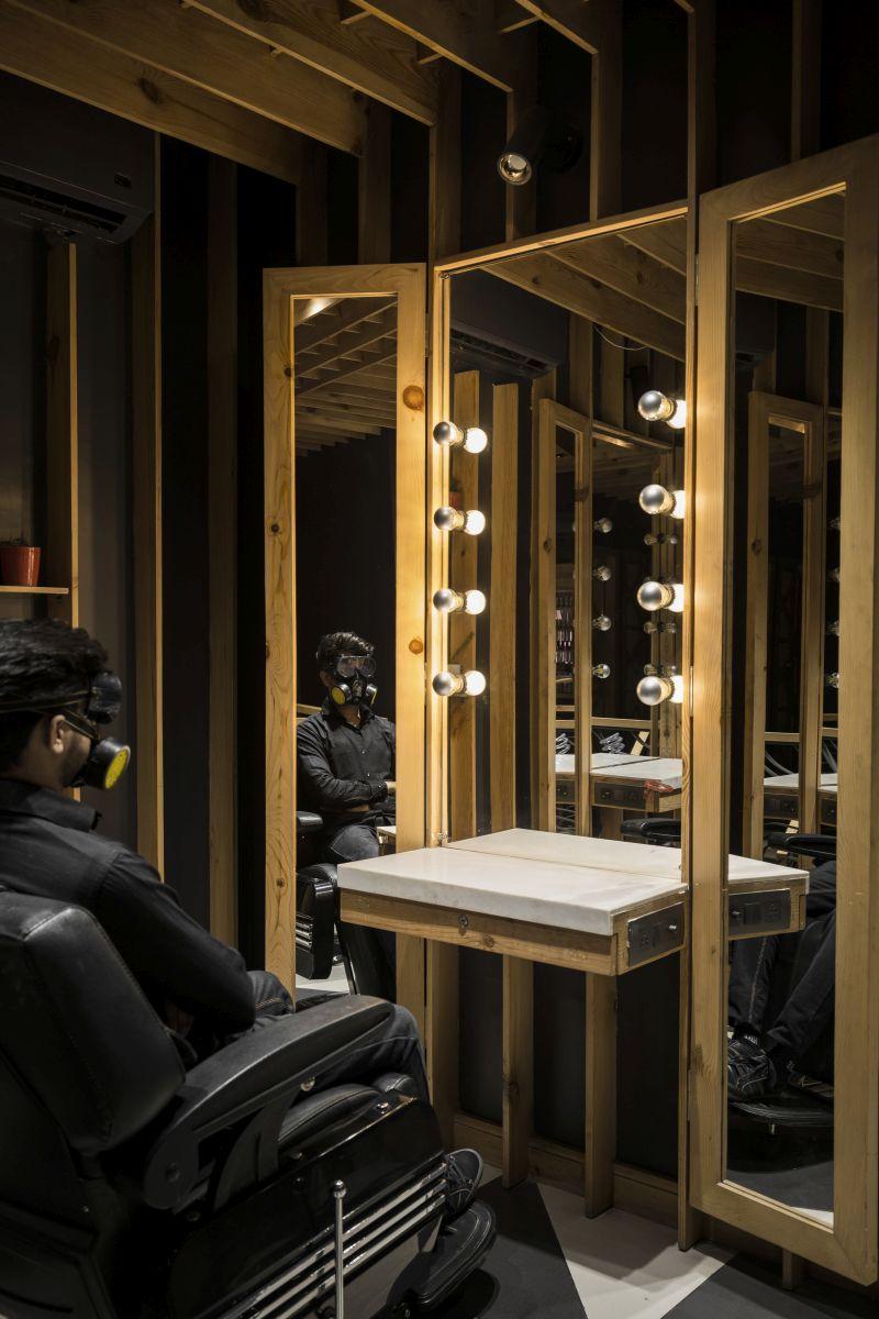 Mukhauta | Jawed Habib Salon, at Mukherjee Nagar, Delhi, by Sync Design Studio 26